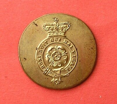 The Royal Fusiliers, Large Gilt, Qvc, Officer's Mess Waiter's Military Button