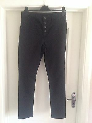 Ladies Black H&M High Waist Skinny Jeans Label Says Size 16 More Like 14
