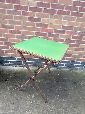 Small Folding Card Games Table Vtg 1940'S