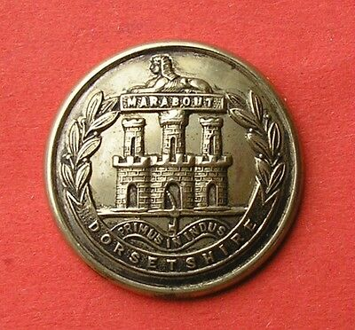 The Dorsetshire Regiment, Large, W/m Officer's Mess Waiter's Military Button
