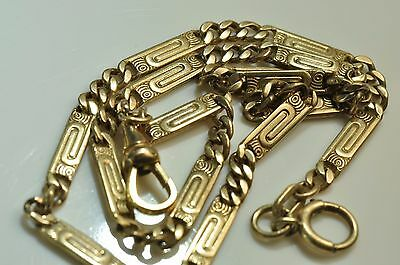 Beautiful Antique   10k Gold filled Pocket Watch chain fob /T-bar 14.5'