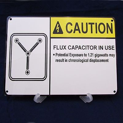 BACK TO THE FUTURE FLUX CAPACITOR Poster Print on Metal Sign Movie Memorabilia