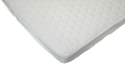 Baby Toddler Bed Waterproof Quilted Cotton MINI CRIB Mattress Pad Cover White