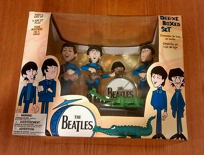 THE BEATLES McFARLANE DELUXE BOXED SET TOY MODEL FIGURES BAND AND CROCODILE