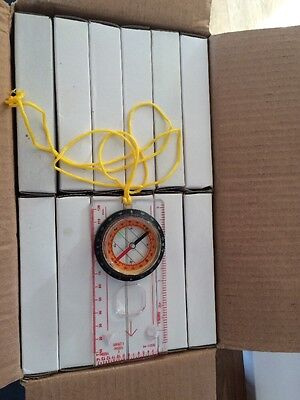 12Magnifying Compass Army Scouts Hiking Camping Boating Map Reading Orienteering