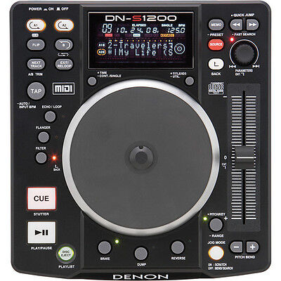 Denon DJ DN-S1200 - Compact Portable DJ CD/MP3 Player and Controller with USB