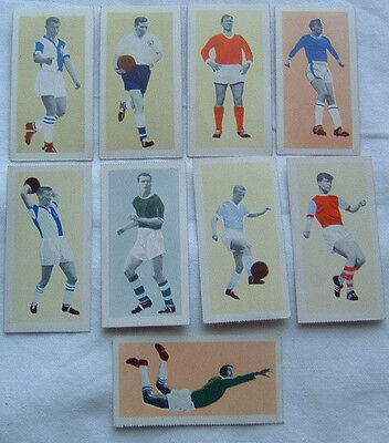 Trade Cards x 9,,Star Footballers of 1963 (Excellent condition)