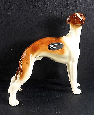 COOPERCRAFT, WHIPPET, Large, Hand Painted with Original Label, Excellent