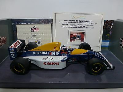 Signed COA - 1:18 - Alain Prost 1993 Williams Renault FW15C - South Africa GP
