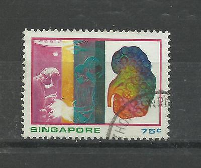 SINGAPORE 1975   75c Medical Science Top Value   fine used