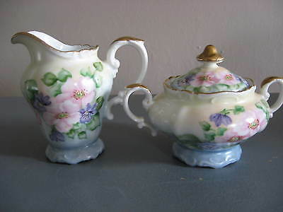 Antique Heinrich Germany SUGAR BOWL & CREAMER Pitcher--Lillian Cole