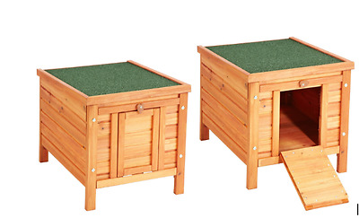 Small Dog House Indoor Outdoor Wooden Pet Kennel Garden Dog Shelter Cat Den NEW