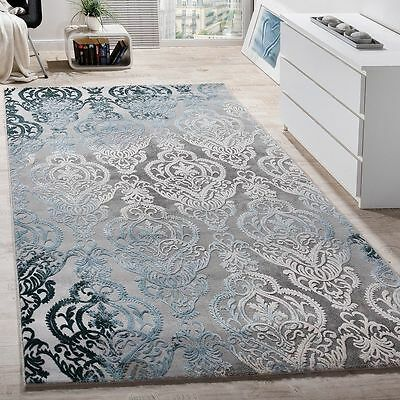 Designer Rug Modern Shabby Chic Antique Style Quality Rugs Grey Blue New Mats