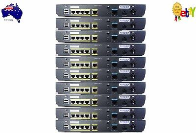 Lot of 10 Cisco 871-K9 Managed Switch WAN Routers AdvIPServices No PSU's