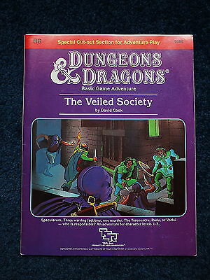 Dungeons & Dragons - Vintage TSR B6 The Veiled Society 1984