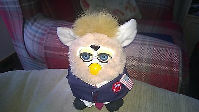 Vintage Furby For President - Hasbro 2000 - Special Limited Edition - Tiger Elct