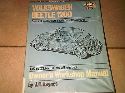 Volkswagen VW Beetle 1200 6 v 1954 on Haynes Owners Workshop Manual 1974 edition