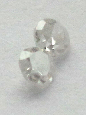 Loose white diamond 2pcs 1.7mm 0.06 ct
