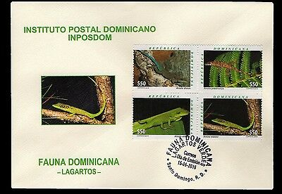 Dominican Republic Frogs Block of 4 FDC 2016