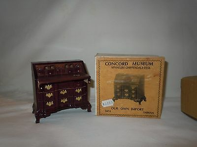 Vtg CONCORD Museum MINIATURES Doll House Chippendale Desk IOB NOS