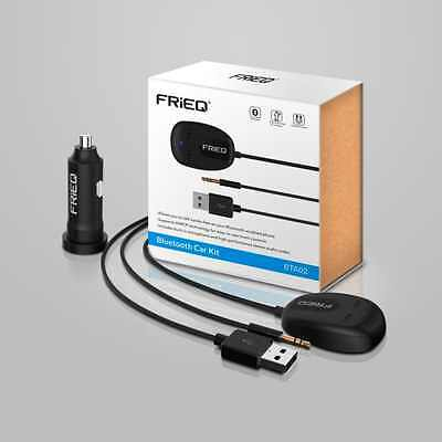 FRiEQ® Bluetooth Hands-Free Car Kit for Cars with 3.5 mm Aux Input Jack