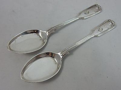 PAIR,  solid silver ICE CREAM SPOONS, 1915, 59gm