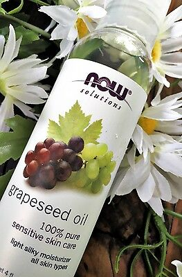 Now Food Solutions Grapeseed Oil , 4fl. oz. (118ml)
