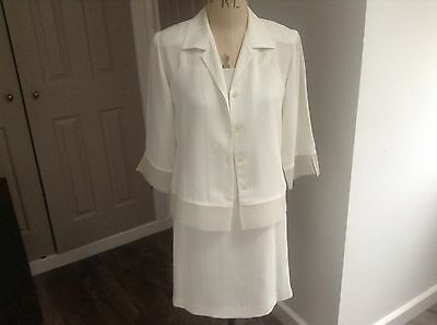 Gold By Michael H. Ivory Shift  Dress And Jacket.size 12. Wedding,cruise,races