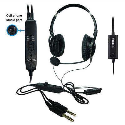 ANR General Aviation Headset - ML-3 - Our latest cellphone or mp3 set