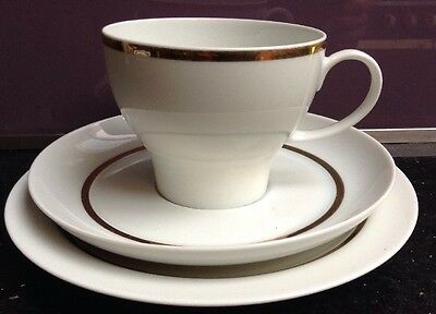 Thomas Germany Bone China Trio -Cup-Saucer-Plate  Gold Band