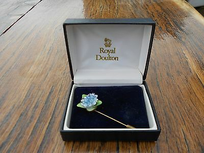 Vintage Royal Doulton Stick Pin Brooch in Box