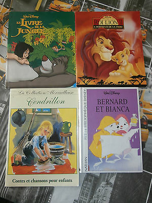 Collection Walt Disney 4 Albums   En Très  Bon Etat.