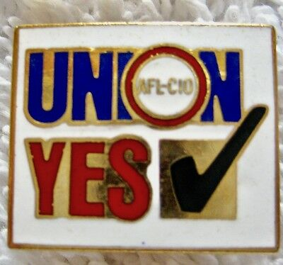 AFL-CIO Union Yes Check Mark Lapel Hat Pin Union Made In U.S.A