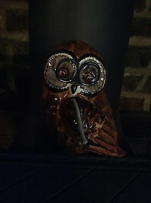Vintage Babbacombe Pottery Owl String And Scissor Holder