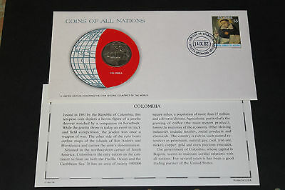 Colombia Coins Of All Nations 1981 10 Peso Coin Unc