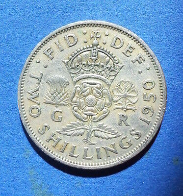 1950 Two shilling coin, florin. George VI. 2 shilling