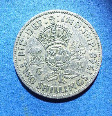 1948 Two Shillings coin. florin. George VI. 2 shilling.