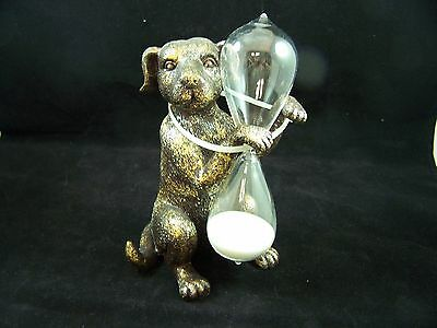 New  Resin  Dog Hour Glass puppy timer sand W