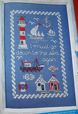 Cross Stitch Chart - SEASIDE SAMPLER -NAUTICAL - LIGHTHOUSE -Chart Only