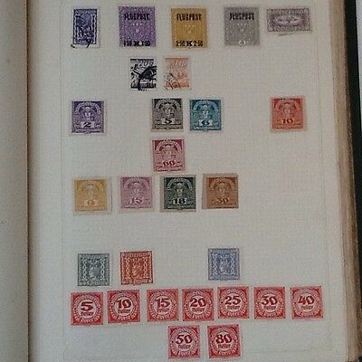 Collection of old stamps from Austria