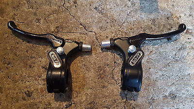Pair Of Tech 77 Brake Levers With Lock On Button