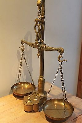 Vintage / Antique Brass Balance Scales - Apothecary Scales