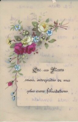 Image pieuse Celluloïd Santino Holy Card Andachtsbild Peinte a la main