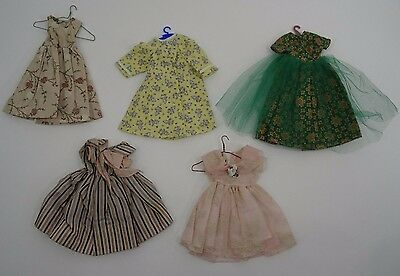 """Vintage 50s Fashion Doll Dresses 18"""" with Hangers"""
