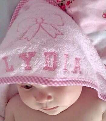 Personalised baby hooded towel robe boy/girl, new born baby gift, christenings