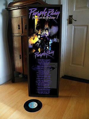 Prince Purple Rain Promotional Poster Lyric Sheet,rock Pop Music,kiss,doves