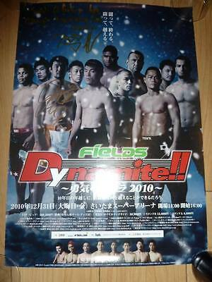 DYNAMITE 2010 Signed B3 Poster Autographed Sakuraba Duffee Rare Pide MMA UFC