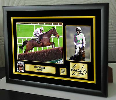 """Ruby Walsh Douvan Limited Edition Framed Canvas  Print Signed """"Great Gift"""""""