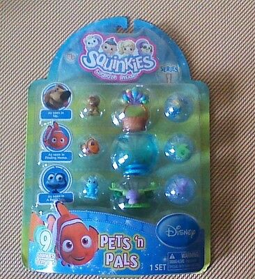 "SQUINKIES Disney PETS N PALS ""SERIES 1"" Nemo,Up,Bug's Life - NEW & RARE !"