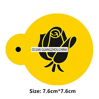 2 Pcs Packed Big Rose Cookie Cake Stencil Decorate Mould Fondant Biscuit Tool